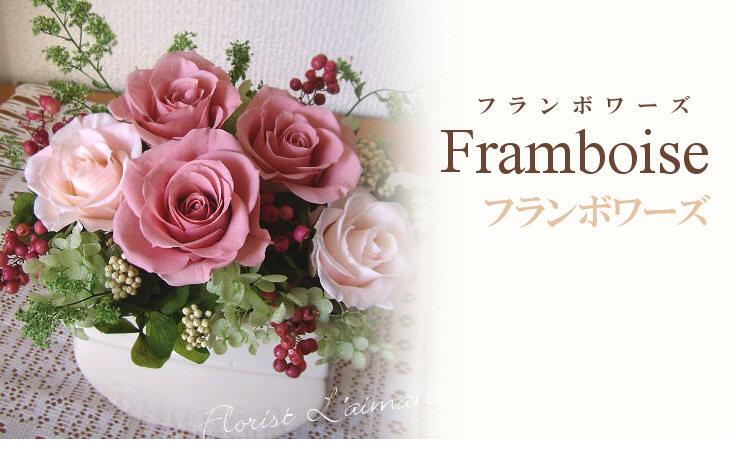 フランボワーズ(ピンク)【プリザーブドフラワー】