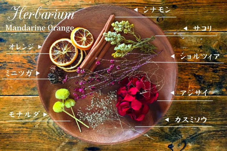 ハーバリウム(オレンジ)1【プリザーブドフラワー】