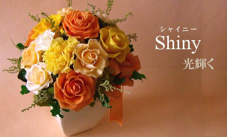 シャイニー(オレンジ)【プリザーブドフラワー】